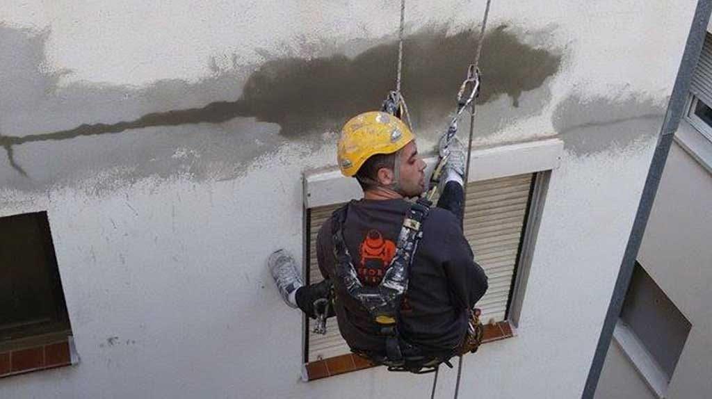 trabajo en altura en fachadas