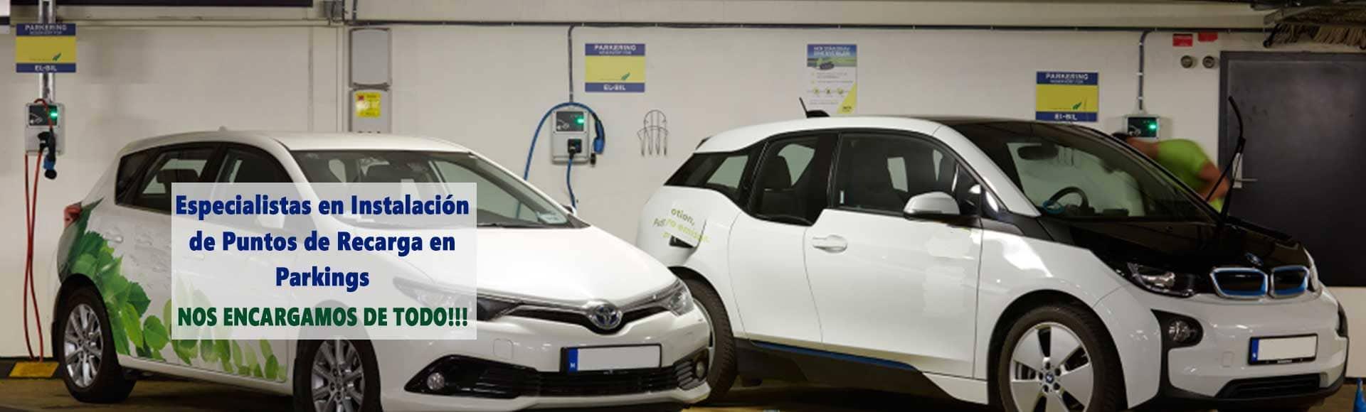 Instalación de puntos de recarga de coches eléctricos