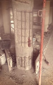 Arreglar pilares de hormigón